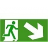 Menekülési út lépcsőn jobbra le (TÁBLA)