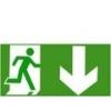 Vészkijárat jobbra le (TÁBLA)