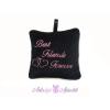 Best Friends Forever plüss csuklópárna 35x35 fekete