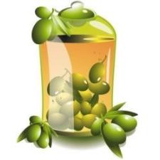 Olivabogyó üvegben dekoráció