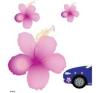 Hibiscus autó dekoráció