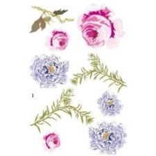 Vintage rózsa matrica