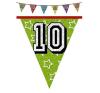 Hologramos zászlófüzér 10, 11, 12 éves 8 m-es   (11-es) party kellék
