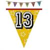 Hologramos zászlófüzér 13, 14, 15 éves 8 m-es  (15-ös)