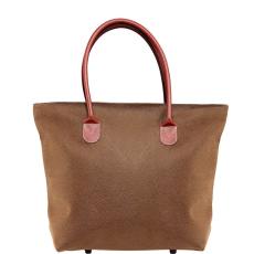 PACK & RIDE PACK&RIDE bevásárló táska cipzárral barna 48x14.5x36cm