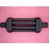 Ø120x1000mm 6 csöves hőfokozó hődob füstcsőre matt fekete