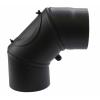 Állítható acél füstcső könyök, 180 / 90° Vegyestüzelésű kazánhoz
