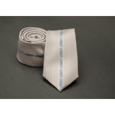 Rossini Prémium slim nyakkendõ - Ecru mintás