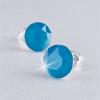 . Fülbevaló, Crystals from SWAROVSKI®, 1 kristályos, blue opál, 8mm