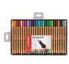 STABILO Tűfilc készlet, 0,4 mm, STABILO Point 88, 25 különböző szín (TST8825) filctoll, marker