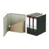 ESSELTE Iratrendező és iratpapucs egyben, 75 mm, A4, karton, márványos, ESSELTE, fekete (E36057)