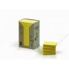 3M POSTIT Öntapadó jegyzettömb, 38x51 mm, 100 lap, környezetbarát, 3M POSTIT, sárga (LPK6531T)