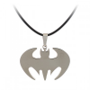 Batman nyaklánc (rozsdamentes acél + bőr)
