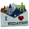 Budapest 3D borítékos hűtőmágnes