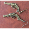 Bronz színű pisztoly fülbevaló