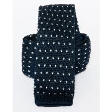 Prémium kötött nyakkendõ - Fekete-fehér mintás