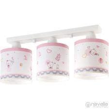 Dalber LILY 62493 rózsaszín fehér 3xE27 max. 60W 48x14x20 cm világítás