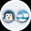 Optipak Antibakteriális kontaktlencse tároló tok – Észak - Kölyök pingvin
