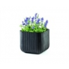 LARGE CUBE PLANTER whiskey barna 521