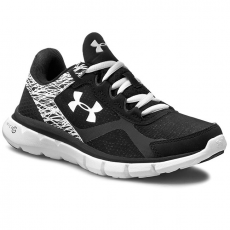 Under Armour Félcipő UNDER ARMOUR - Ua Micro G Velocity Rn 1258731-002 Blk/Wht/Wht