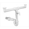kétmedencés mosogató csőszifon,+mosógép csatlakozó, leeresztőszelep nélkül, 50mm (STY-639-50-3)