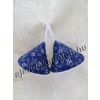 Fedőfogó fül kékfestő motívumos 1 pár