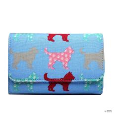 LP1687NDG - Miss Lulu London nyomtatott oldal táska pénztárca Dog kék