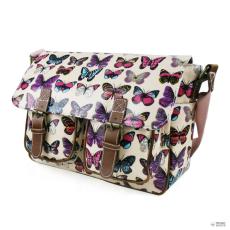 L1107B - Miss Lulu London Oilcloth táska pillangó rózsaszín