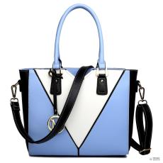 LG1641 - Miss Lulu London V-alak válltáska kézi táska kék