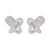 Ezüst fülbevaló cirkóniával (ES661)