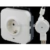 LEGRAND Csatlakozóaljzat 2 USB-vel, túlfeszültség levezetõvel, 694671