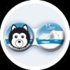 Optipak Antibakteriális kontaktlencse tároló tok – Észak - Husky