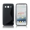 Huawei Ascend G525, TPU szilikon tok, S-Line, fekete