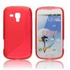 tok-shop.hu Samsung Galaxy S Duos S7562 / Galaxy Trend S7560 / Trend Plus S7580, TPU szilikon tok, S-Line, piros