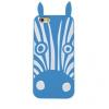 Samsung Galaxy Grand Prime SM-G530, TPU szilikon tok, 3D zebra minta, kék/fehér