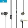 Vezetékes sztereó fülhallgató, 3.5 mm jack, Rock Zircon, fekete