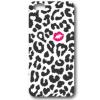 LG Spirit, TPU szilikon tok, csók, fekete folt minta, fehér, No.32