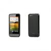 HTC ONE V, TPU szilikon tok, Smoked