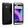 HTC One M8, TPU szilikon tok, S-line, fekete