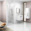 Ravak Chrome CSD1-80 egyrészes zuhanyajtó fehér kerettel, transparent edzett biztonságiüveggel