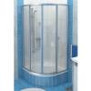 Ravak SKCP4-80 Sabina negyedköríves zuhanykabin minikádakhoz szatén kerettel, pearl muanyag betétlemezzel