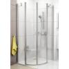 Ravak Chrome CSKK4-80 négyrészes negyedköríves zuhanykabin szatén kerettel, transparent edzett biztonságiüveggel