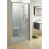 Ravak Pivot PDOP1-80 egyrészes kifelé nyíló zuhanyajtó szatén kerettel, transparent biztonsági üveggel