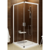 Ravak Blix BLRV2K-110 sarokbelépõs zuhanykabin fehér kerettel és transparent edzett biztonságiüveg betéttel