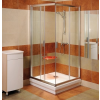 Ravak Blix BLRV2K-100 sarokbelépõs zuhanykabin szatén kerettel és grape edzett biztonságiüveg betéttel