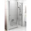 Ravak Chrome CSD2-100 kétrészes zuhanyajtó szatén kerettel, transparent edzett biztonságiüveggel