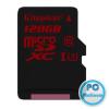 Kingston 128GB microSDXC Class10 UHS-I U3 + adapter nélkül