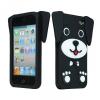 Huawei Y6, TPU szilikon tok, 3D kutya minta, fekete