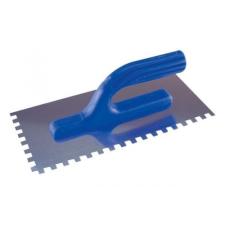 glettelő kanál, csempéző 12,5×27cm (8×8mm-es fogazás), (műanyag nyél); rozsdamentes csempevágó