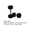 m-tech (H) XDB-6101 Egykezes fix kézisúlyzó, hatszögletű, krómozott, gumborítású 17,5kg
